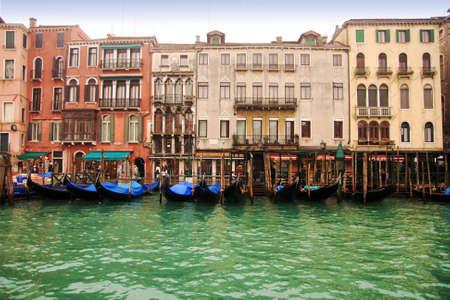 sestiere: Gondolas in Grand Canal in Venice