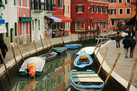 marcos: Colored houses and canals in Burano; Venice