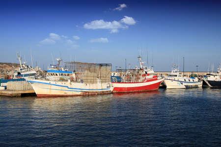 profundity: Fishing boats docked in port