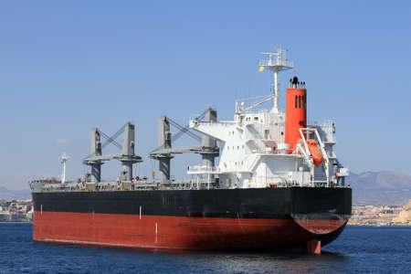 Bullcarrier ship anchored waiting cargo photo