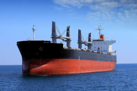 Bullcarrier ship anchored waiting cargo Stock Photo - 17930965