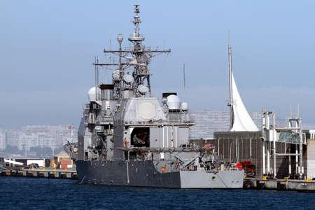Ticonderoga  class cruise in the port of Alicante  photo