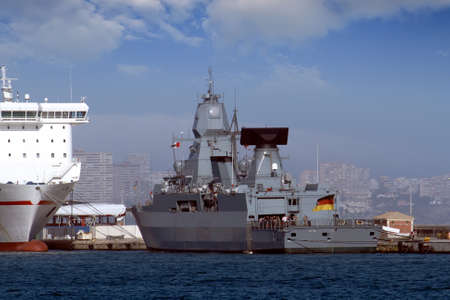German frigate tied up in the port of Alicante photo