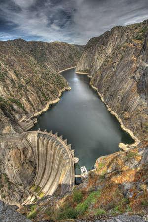 Aldeadavila Dam in the river Duero; Spain  photo