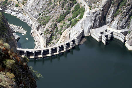 Aldeadavila Dam in the river Duero; Spain  photo