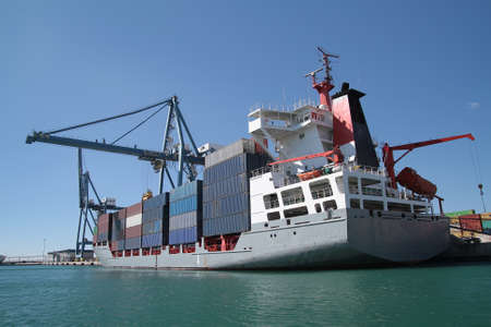 containership: Container ship and crane