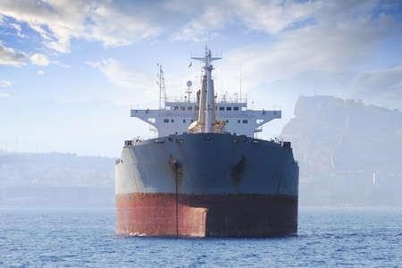 anchored: Bullcarrier ship anchored waiting cargo