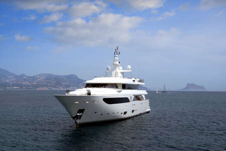Private yacht anchored in Altea bay photo