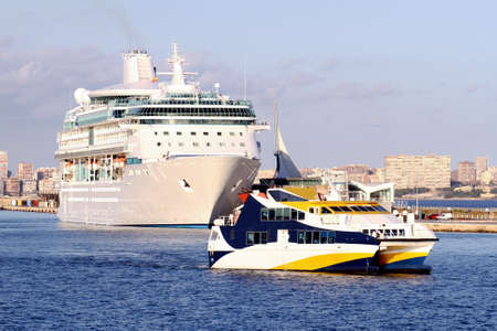 starboard: Big cruise leaving the port Alicante