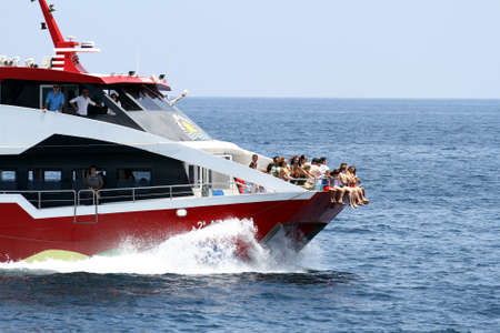 Touristic ferry sailing