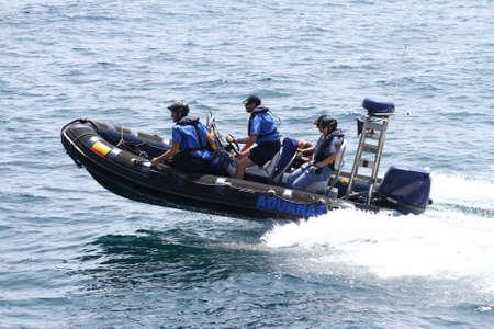 coastguard: Fast boat of the spanish customs sailing