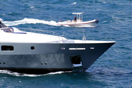 starboard: Forward zone of private yacht