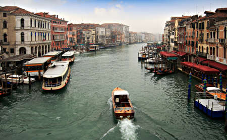 View of the Grand Canal of Venice from Rialto bridge photo