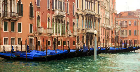 Buildings and hotels in the Grand Canal of venice photo