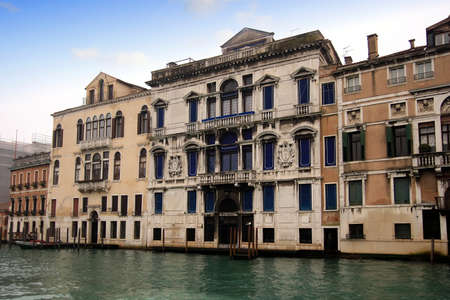 sestiere: Buildings and hotels in the Grand Canal of venice