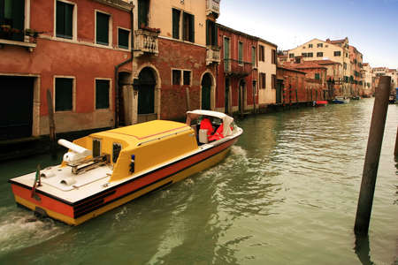 Ambulance in the canals of venice photo