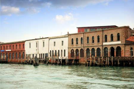 Glass factories in Murano island photo