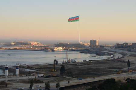 baku: Baku, the area of the flag - Eurovision 2012 venue Editorial
