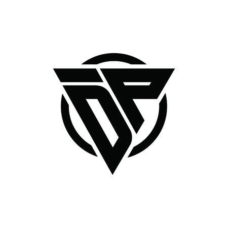 DP PD Triangle Logo Circle Monogram Design Vector Super Hero Concept Logo