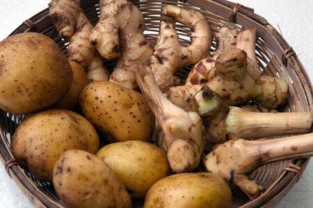 galangal: potatoes, galangal, ginger