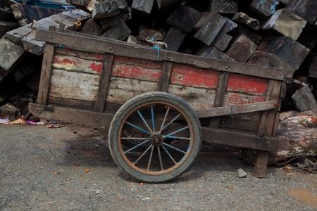 carreta madera: carro de madera