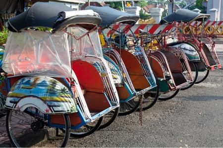 jogjakarta: pedicab Java