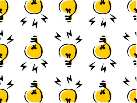 light bulbs pattern. You can use it in a group as web background, wallpaper, full print t shirt design materials and others. You also can use it separately become icon or logo template. Vettoriali