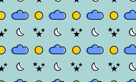 night and day pattern. You can use it in a group as web background, wallpaper, full print t shirt design materials and others. You also can use it separately become icon or logo template.