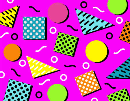 geometric pop seamless pattern. You can use it as background, wallpaper, wrapper, holiday prints, scrapbook, or even wedding. You also can use it separately become icon or logo template.