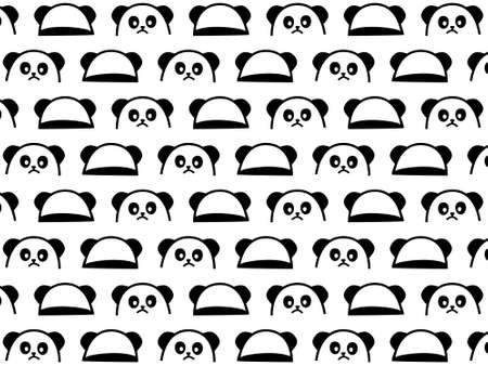 panda hand drawn black and white pattern. You can use it as background, wallpaper, wrapper, holiday prints, scrapbook, or even wedding. You also can use it separately become icon or logo template. Logo
