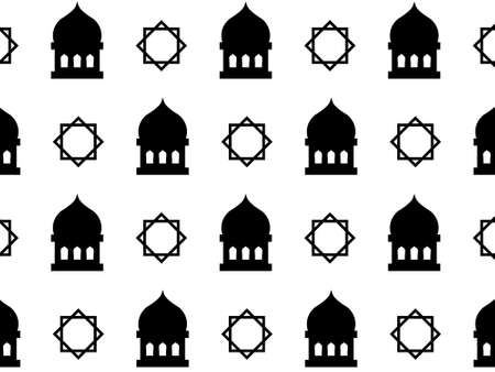 mosque islam pattern pattern texture vector. You can use it as background, wallpaper, wrapper, holiday prints, scrapbook, or even wedding. You also can use it separately become icon or logo template. Vectores