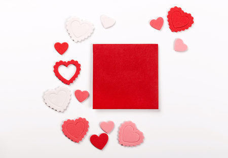 Happy Valentines day photo card background.  Stock Photo