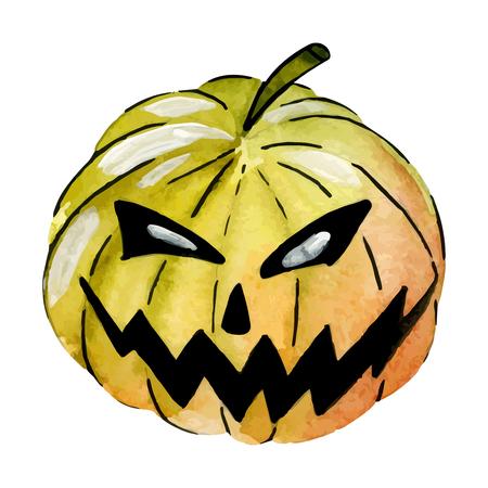 october 31: watercolor pumpkins