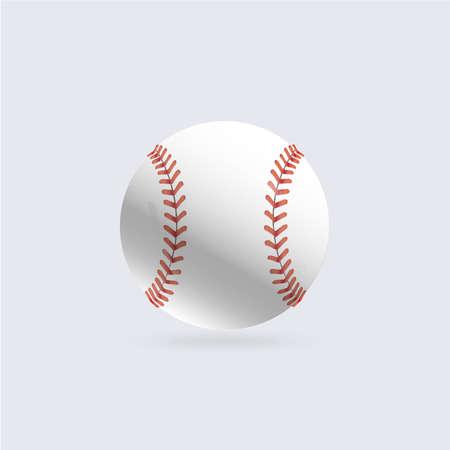 Baseball ball illustration isolated symbol. Vector illustration. Sports