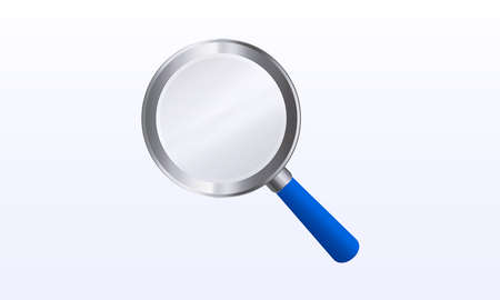 Vector illustration of a magnifier on an isolated background. Loupe, magnification, search.