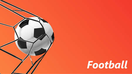 Football abstract template for soccer covers, sports posters, placards and flyers with ball. Vector illustration.