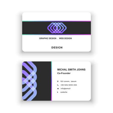 Business card. Simple design, logo. Vector illustration. Modern minimalistic template Logo