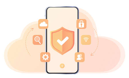 Phone protection, antivirus. Updating devices. File Transfer. Files transferred Encrypted Form. Program for Remote Connection. Business organization. Database with cloud server, Data set, process. Web