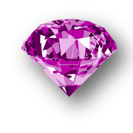 emerald stone: vector illustration of diamond gems Shine luxury purple Illustration