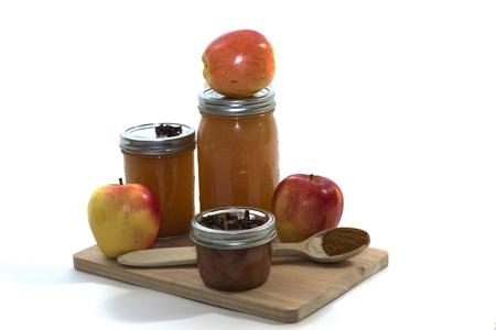ambrosia: Mele Homegrown e gli ingredienti usati per fare il succo di mela fatto in casa Archivio Fotografico