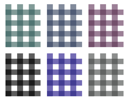 Checked Pattern, Wallpaper, Abstract, Backgrounds set