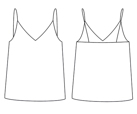 female top technical sketch