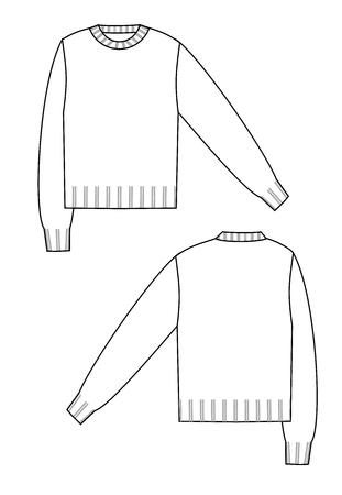 sweater technical sketch