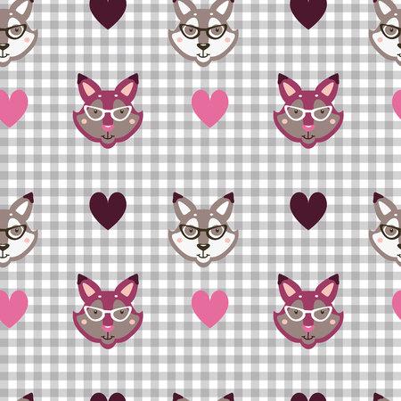 patrón de animales en colores gris y rosa
