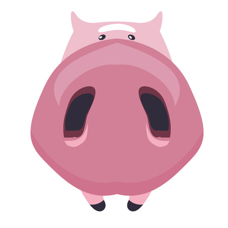 pig style in funny style on white background 2018 new year symbol 向量圖像