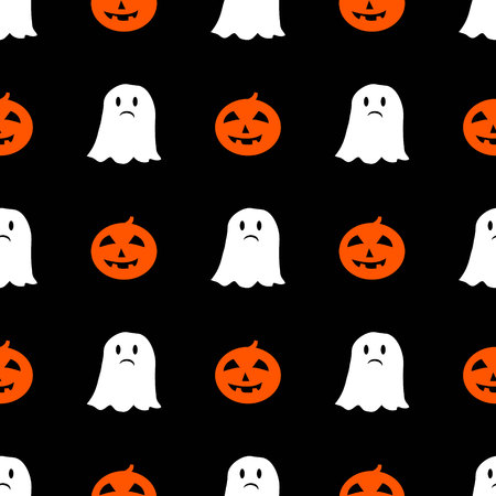 cute halloween pattern in cartoon style for your design