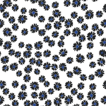 Vector flower pattern on light background. Simple floral background. Perfect for textile.