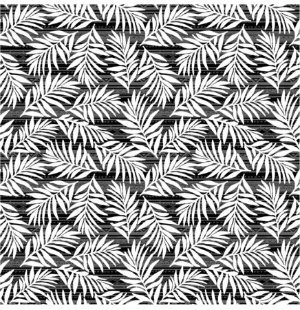 Vector jungle  white  leaves pattern on geometric background. Tropical background. Perfect for textile, wrapping and etc.