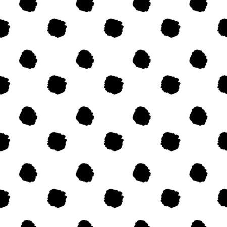 Cute dots background in black and white colors. Polka dot background in scandinavian style for textile, wrapping,wallpaper and etc.