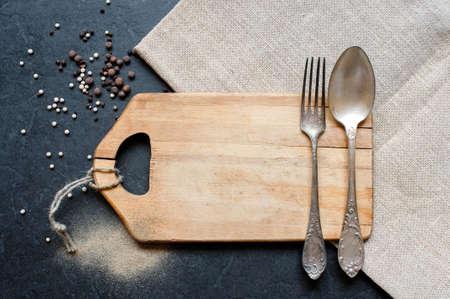 Cutlery setting in minimalistic stile